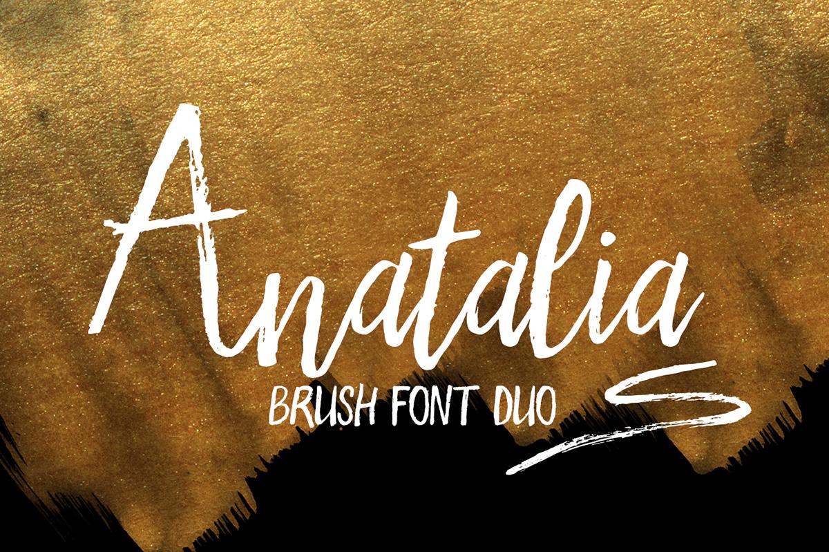 Anatalia Brush Duo Font