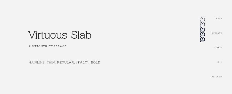 Virtuous Slab Typeface