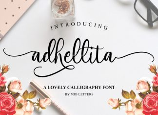 Adhellita Script Font