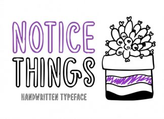 Notice Things Font