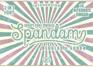 Spandam Vintage Font