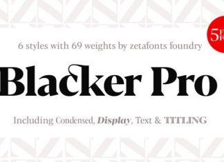 Blacker Font