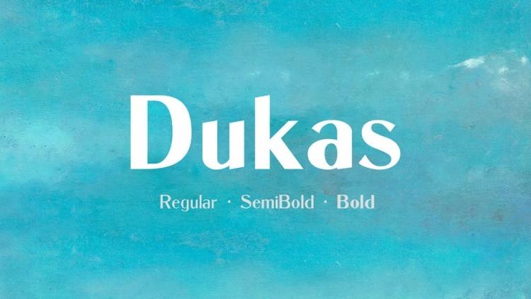 Dukas Font