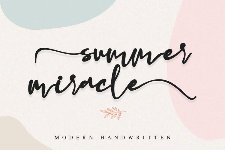 Summer Miracle Font