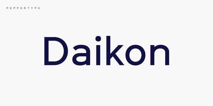 Daikon Font