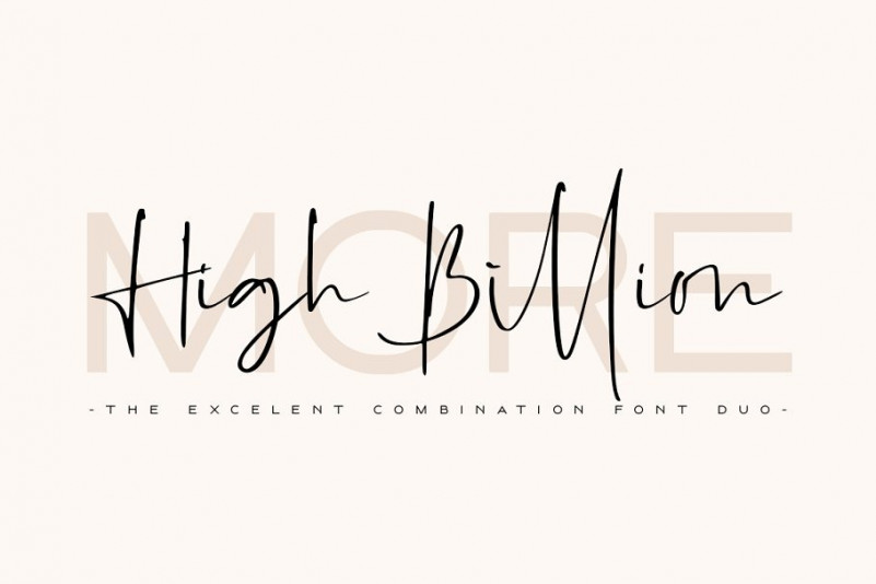 High Billion Font