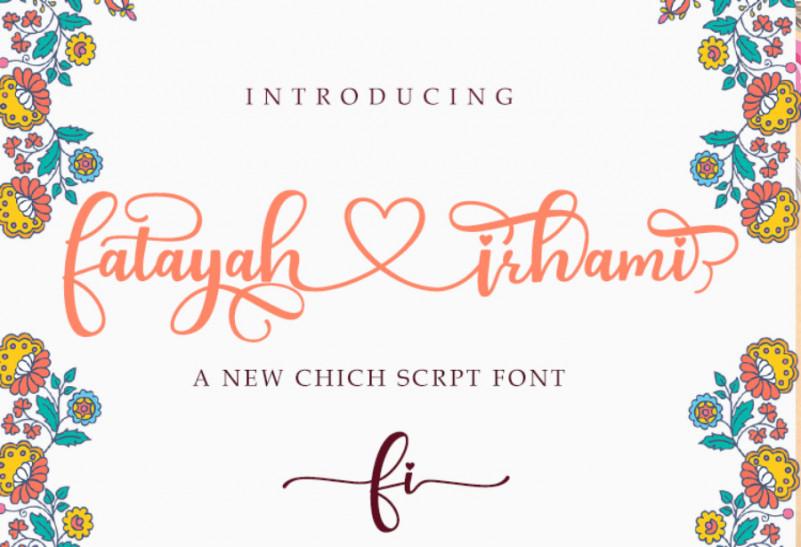 Fatayah Irhami Font