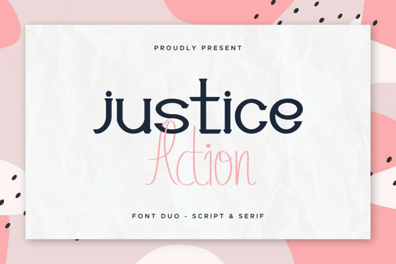 Justice Action Serif Font
