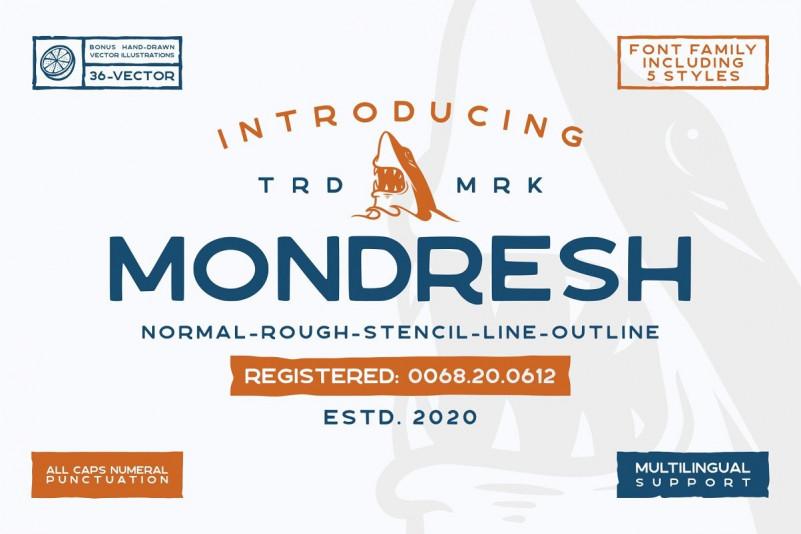 Mondresh rough Font