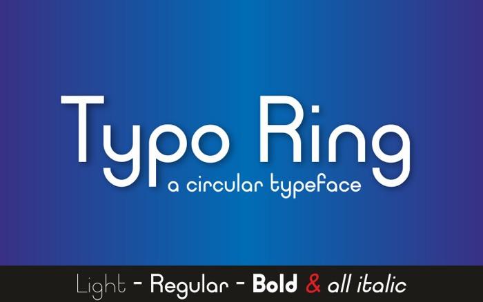 Typo Ring Font