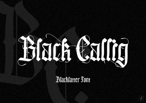 Black Callig Font