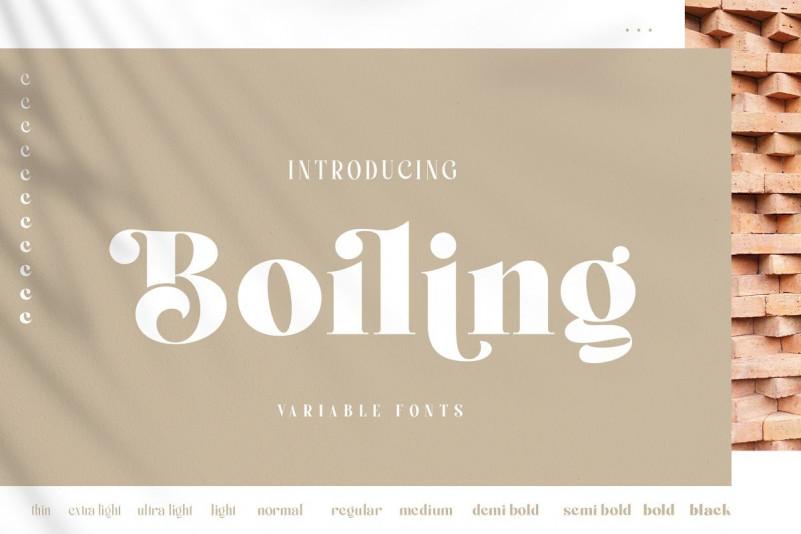 Boiling Font