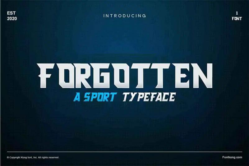 Forgotten Font