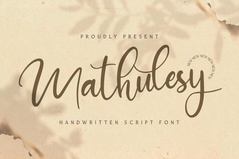 mathulesy Font