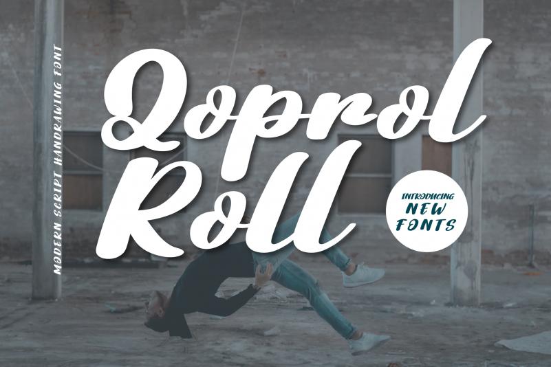 Qoprol Roll Font