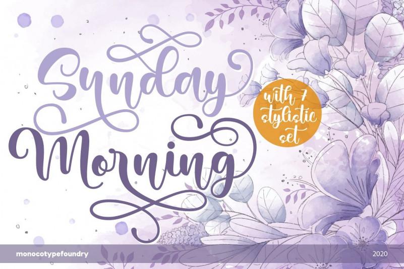 Sunday Morning Font