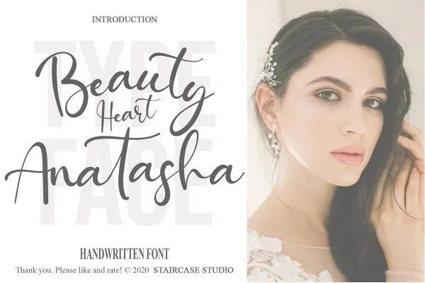 Beauty Heart Anatasha Font