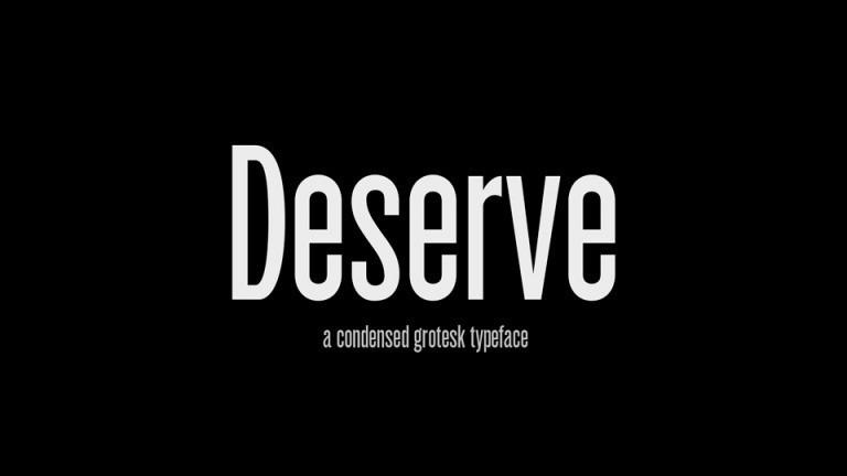 Deserve Font