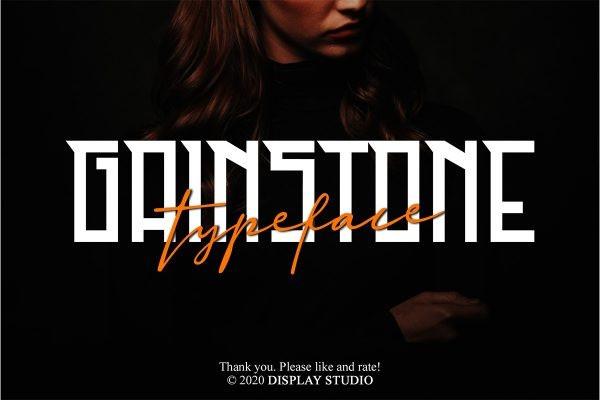 Gainstone Font