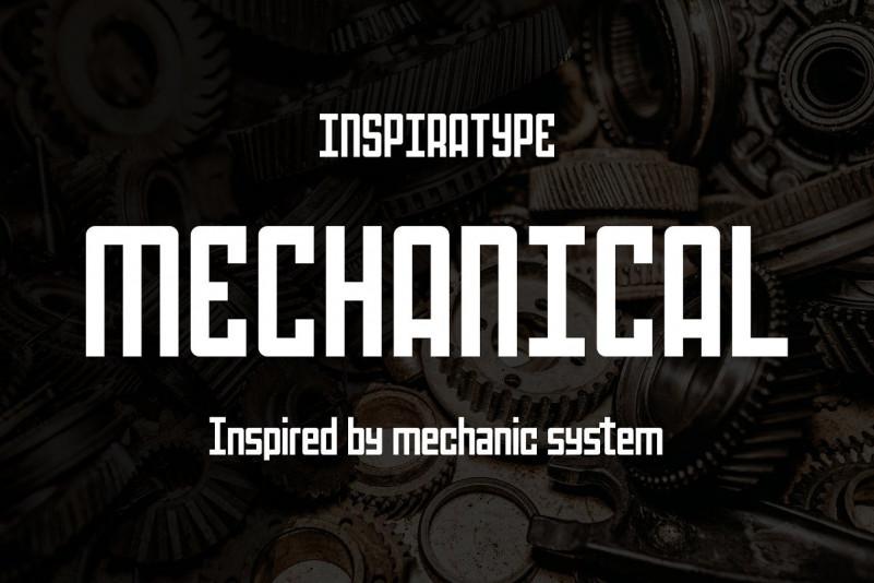 Mechanical Font