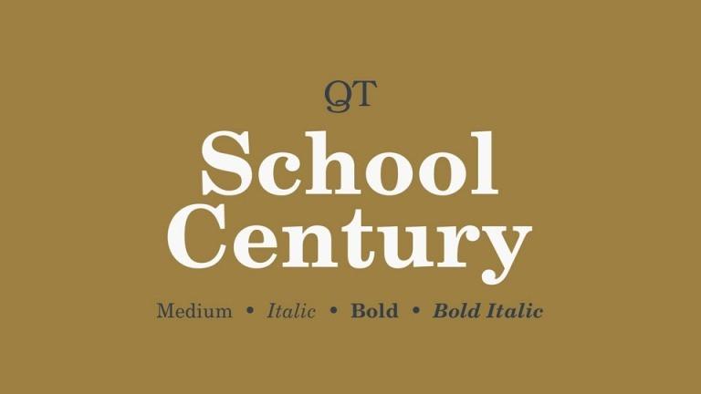 School Century Font