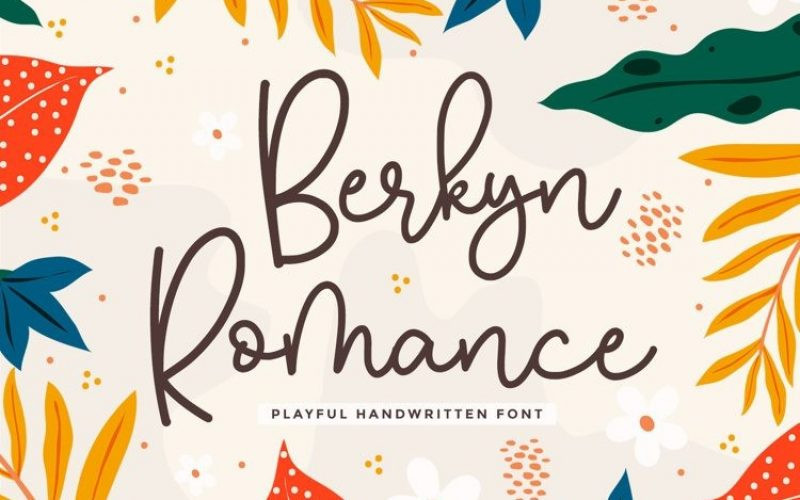 Berkyn Romance Font