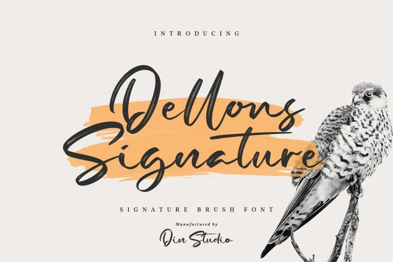 Dellons Signature Font