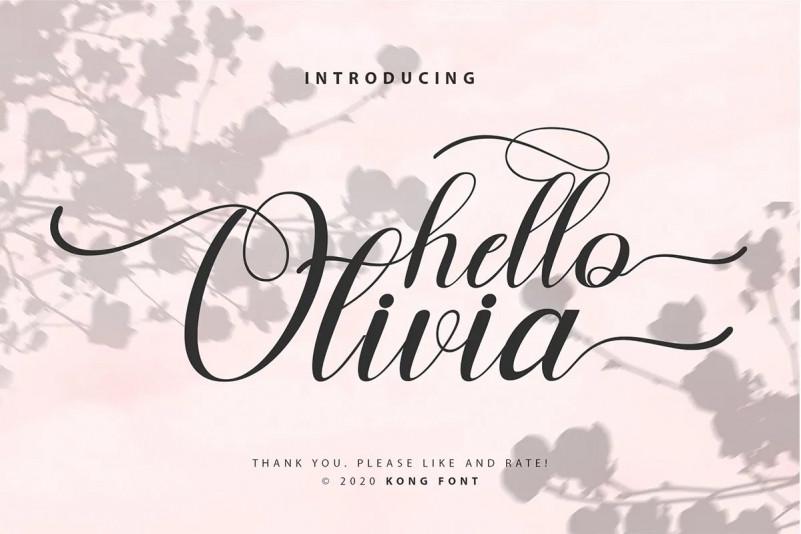 Hello Olivia Font