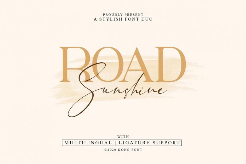 Road Sunshine Font