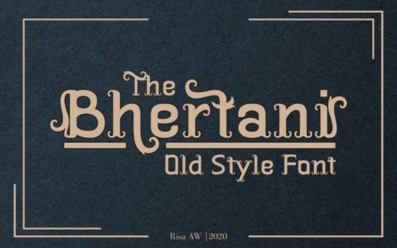 The Bhertani Font