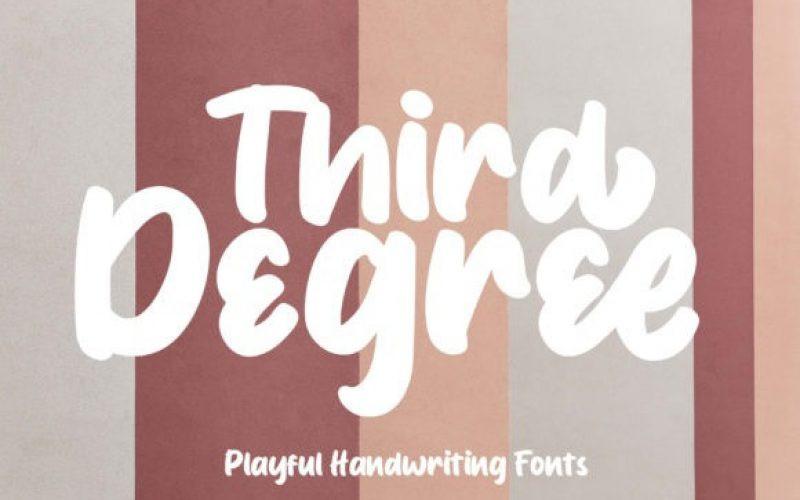 Third Degree Font