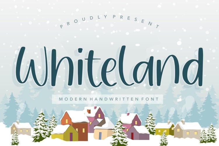 Whiteland Font