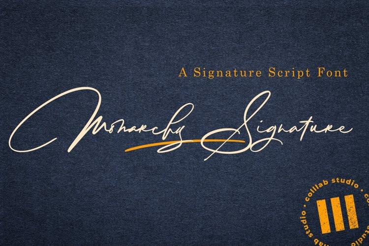 Monarchy Signature Font