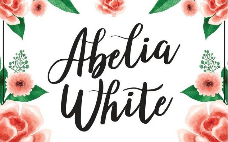 Abelia White Font