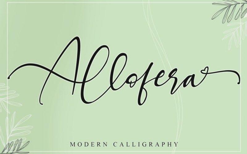 Allofera Font