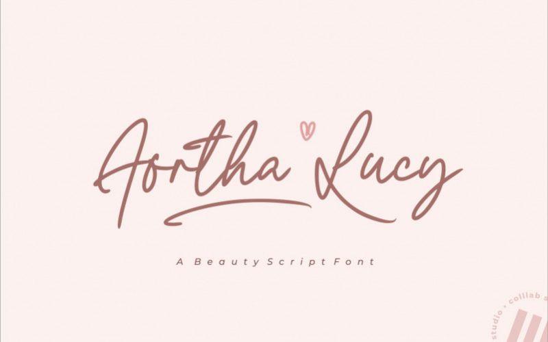 Aortha Lucy Font