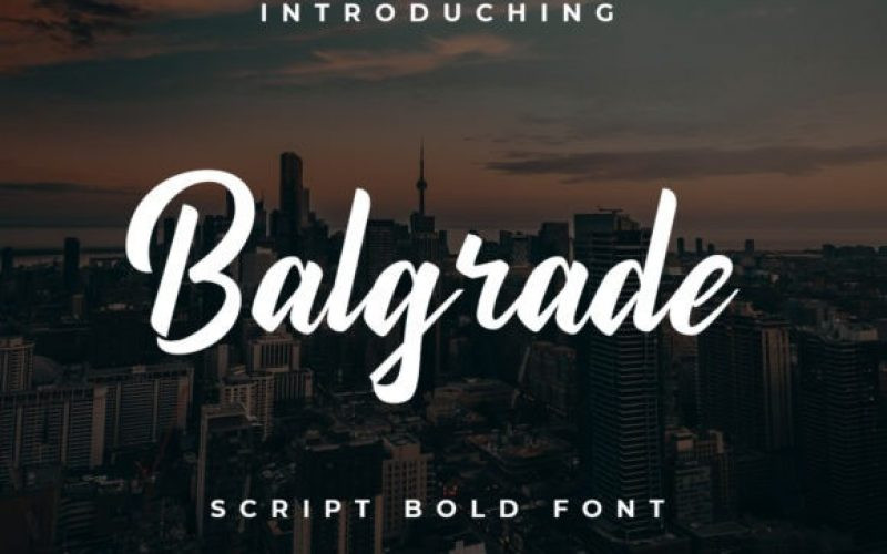 Balgrade Font