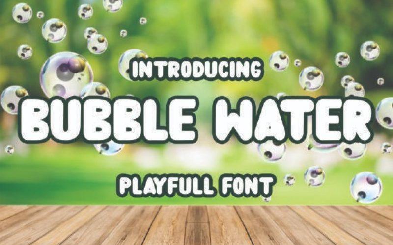 Bubble Water Font