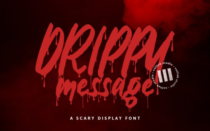Drippy Message Font