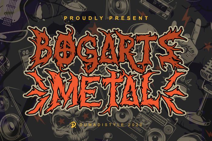 Bogarts Metal Font