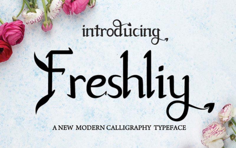 Freshliy Font