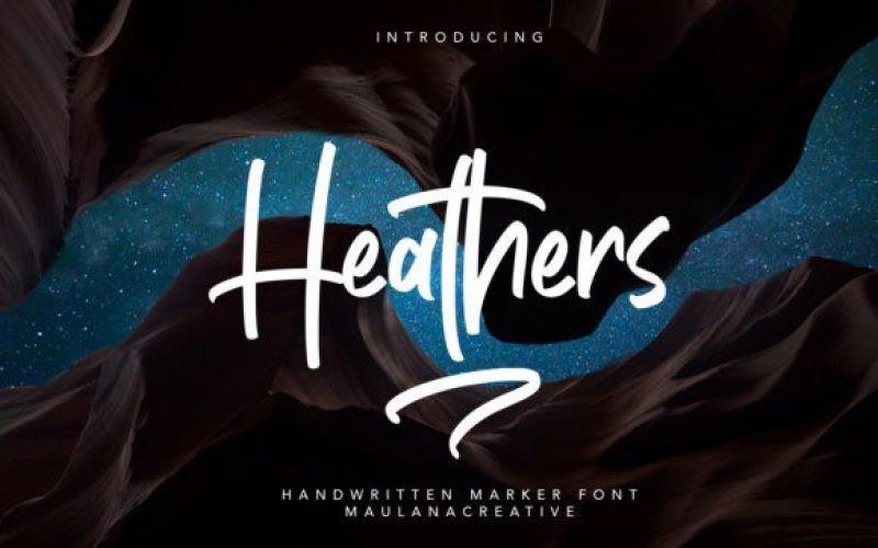 Heathers Font