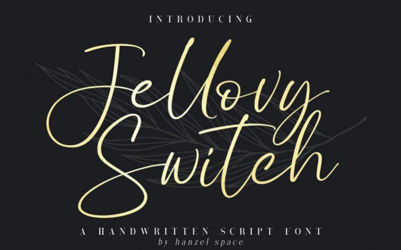 Jellovy Switch Font
