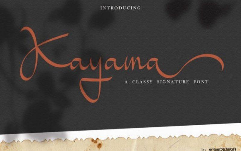 Kayama Font