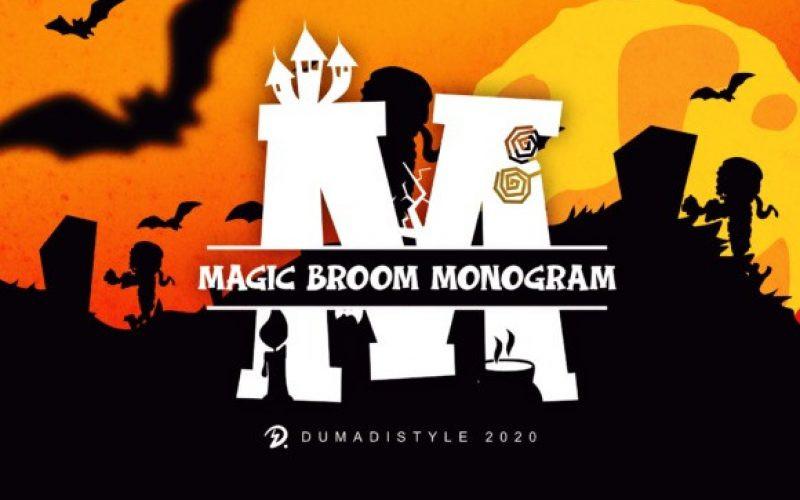 Magic Broom Monogram Font