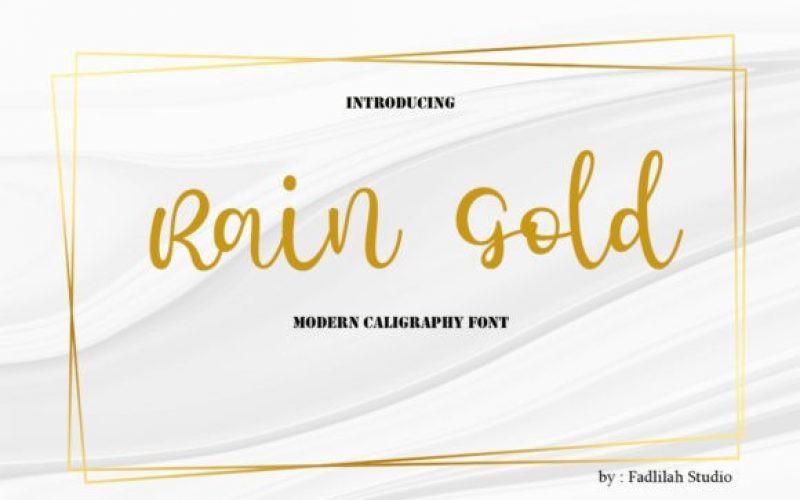 Rain Gold Font
