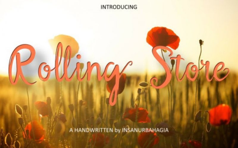 Rolling Store Font