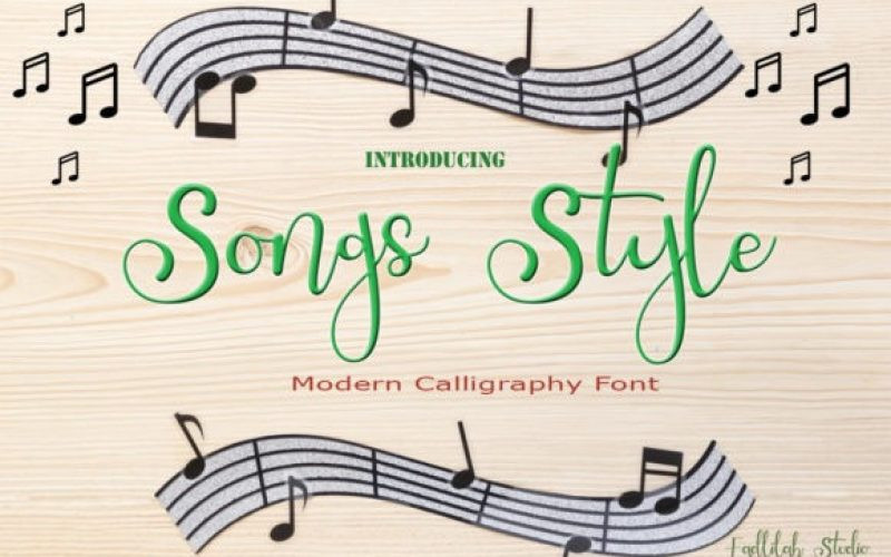 Songs Style Font