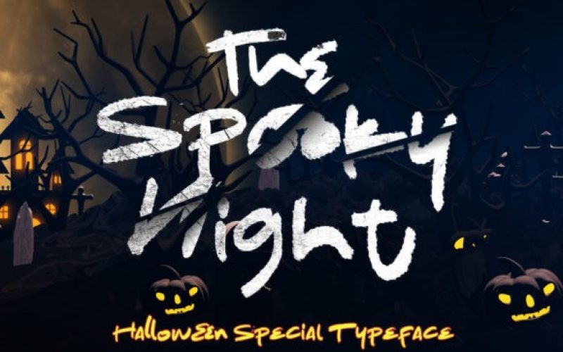 The Spooky Night Font
