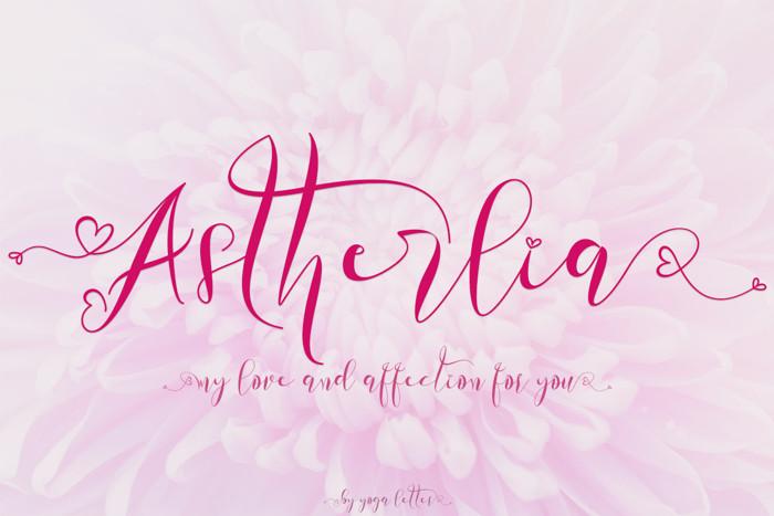 Astherlia Font
